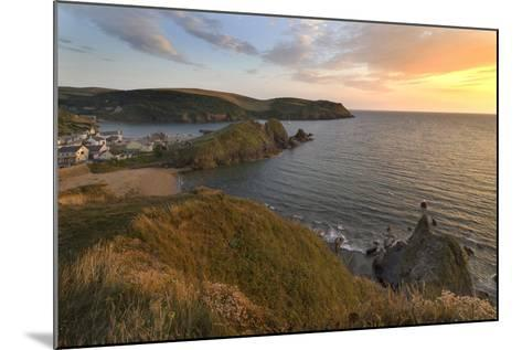 Hope Cove Devon coast at sunset-Charles Bowman-Mounted Photographic Print