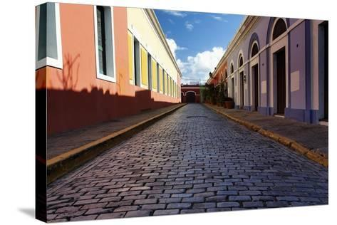 Colorful Narrow Street Of Old San Juan, Pr-George Oze-Stretched Canvas Print