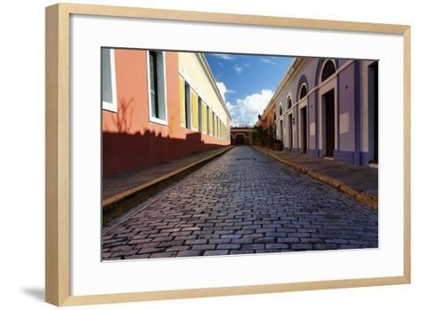 Colorful Narrow Street Of Old San Juan, Pr-George Oze-Framed Art Print