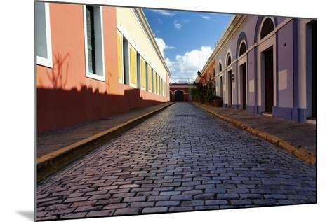 Colorful Narrow Street Of Old San Juan, Pr-George Oze-Mounted Photographic Print