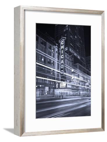 Chicago Theater Marquee In Black & White-Steve Gadomski-Framed Art Print