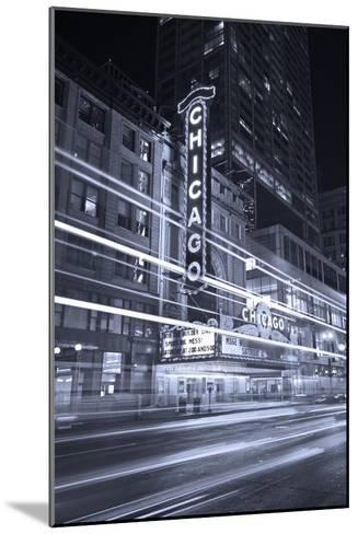 Chicago Theater Marquee In Black & White-Steve Gadomski-Mounted Photographic Print