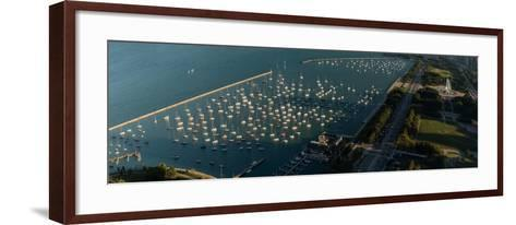 Monroe Harbor Chicago-Steve Gadomski-Framed Art Print