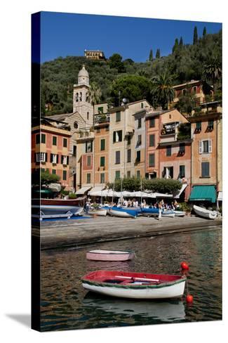 Portofino harbour Liguria Italy-Charles Bowman-Stretched Canvas Print
