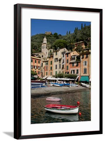 Portofino harbour Liguria Italy-Charles Bowman-Framed Art Print