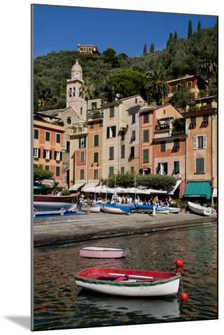 Portofino harbour Liguria Italy-Charles Bowman-Mounted Photographic Print