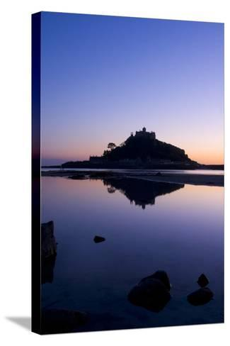 Mount St Michael Cornwall England at sunset-Charles Bowman-Stretched Canvas Print
