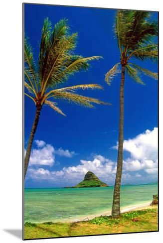 Chinamens Hat in Kaneohe Bay, Hawaii-George Oze-Mounted Photographic Print