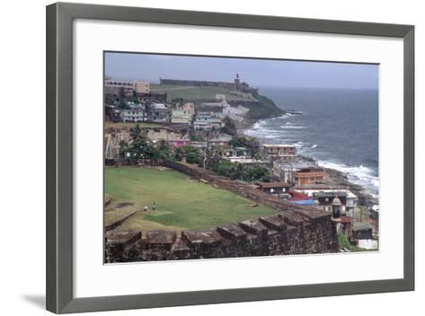 El Morro Fort as Viewed From San Cristobal Fort-George Oze-Framed Art Print