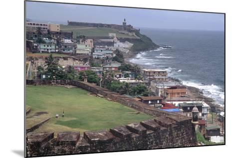 El Morro Fort as Viewed From San Cristobal Fort-George Oze-Mounted Photographic Print