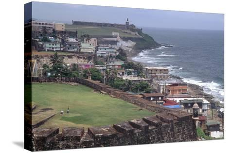 El Morro Fort as Viewed From San Cristobal Fort-George Oze-Stretched Canvas Print