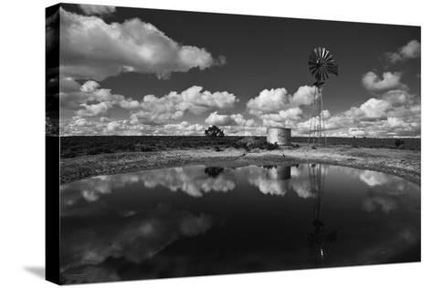 Ranch Pond, New Mexico-Steve Gadomski-Stretched Canvas Print