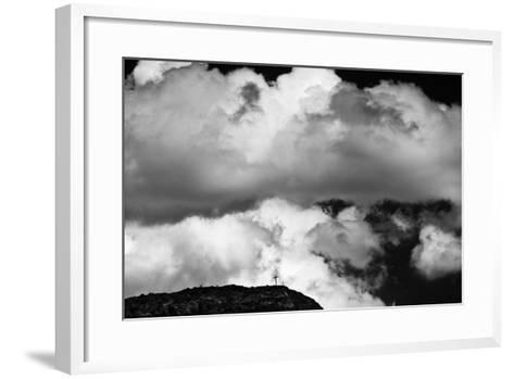 Mountain Cross Over Santo Nino Chapel, New Mexico-Steve Gadomski-Framed Art Print