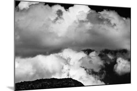 Mountain Cross Over Santo Nino Chapel, New Mexico-Steve Gadomski-Mounted Photographic Print