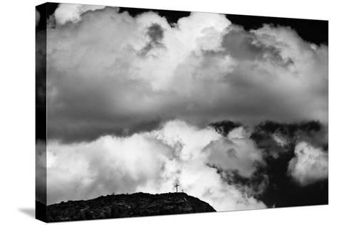 Mountain Cross Over Santo Nino Chapel, New Mexico-Steve Gadomski-Stretched Canvas Print