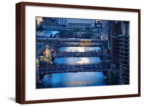 Chicago River First Light-Steve Gadomski-Framed Art Print