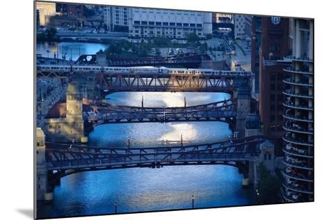 Chicago River First Light-Steve Gadomski-Mounted Photographic Print