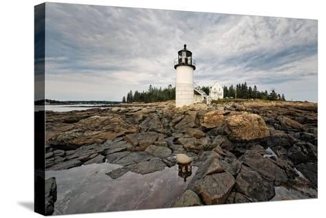 Lighthouse View, Port Clyde, Maine-George Oze-Stretched Canvas Print
