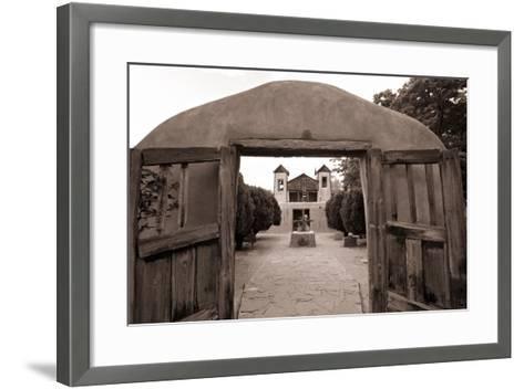 Adobe Church Of Chimayo, New Mexico-George Oze-Framed Art Print