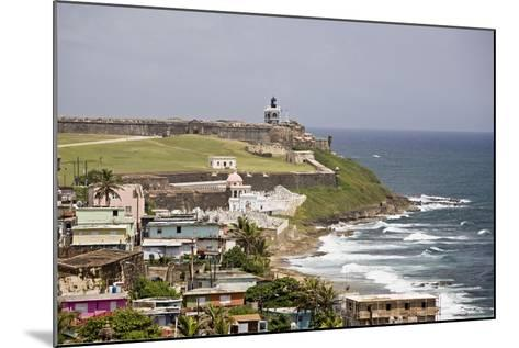 Crashing Waves At El Morro Fort, Old San Juan-George Oze-Mounted Photographic Print
