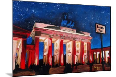 Berlin Brandenburg Gate with Paris Place-Martina Bleichner-Mounted Art Print
