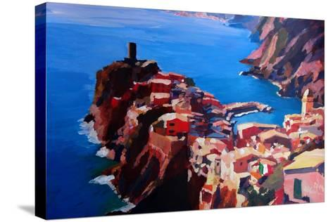 Spectacular Cinque Terre View to Vernazza, Ligure-Markus Bleichner-Stretched Canvas Print