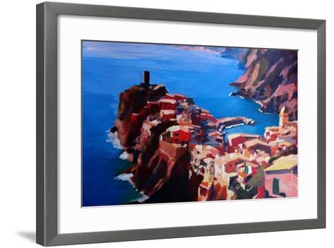Spectacular Cinque Terre View to Vernazza, Ligure-Markus Bleichner-Framed Art Print