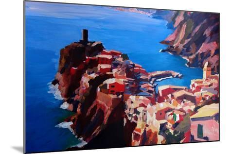 Spectacular Cinque Terre View to Vernazza, Ligure-Markus Bleichner-Mounted Art Print