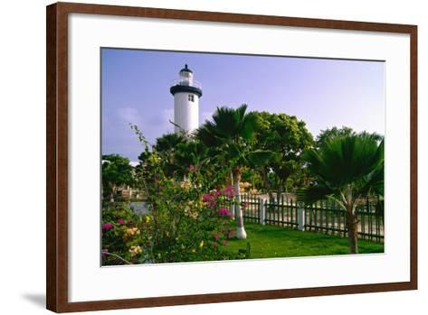 Rincon Lighthouse and Garden, Puerto Rico-George Oze-Framed Art Print