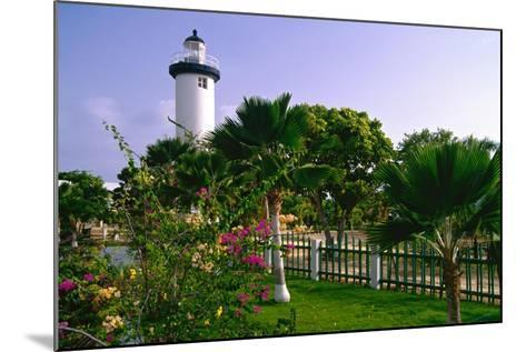 Rincon Lighthouse and Garden, Puerto Rico-George Oze-Mounted Photographic Print
