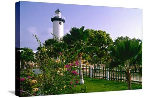 Rincon Lighthouse and Garden, Puerto Rico-George Oze-Stretched Canvas Print