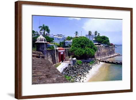 Gate of the City, Old San Juan, Puerto Rico-George Oze-Framed Art Print
