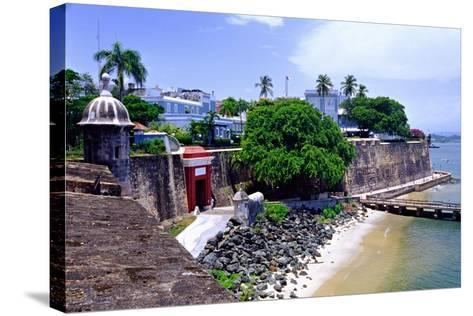 Gate of the City, Old San Juan, Puerto Rico-George Oze-Stretched Canvas Print