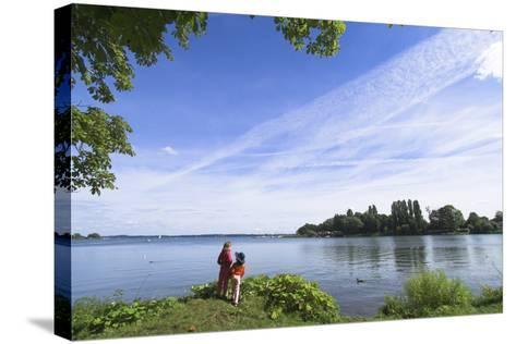 Swchwerin Germany Burgsee lake-Charles Bowman-Stretched Canvas Print