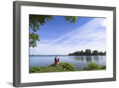 Swchwerin Germany Burgsee lake-Charles Bowman-Framed Art Print