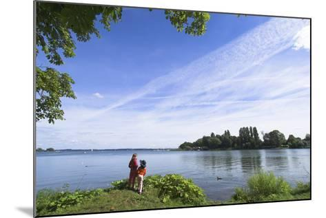 Swchwerin Germany Burgsee lake-Charles Bowman-Mounted Photographic Print