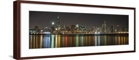Chicago Skyline Colorful Reflection-Patrick Warneka-Framed Art Print
