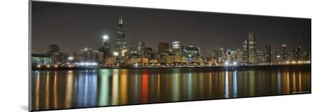 Chicago Skyline Colorful Reflection-Patrick Warneka-Mounted Photographic Print