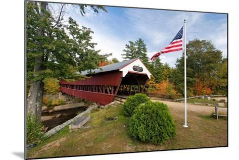Covered Bridge Over The Swift River, Nh-George Oze-Mounted Photographic Print
