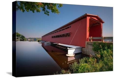 Langley Covered Bridge, Michigan-Steve Gadomski-Stretched Canvas Print