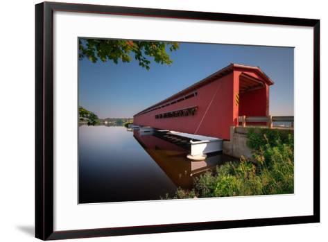 Langley Covered Bridge, Michigan-Steve Gadomski-Framed Art Print