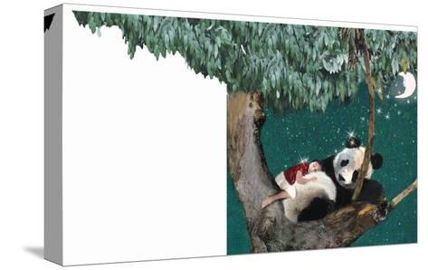Panda And Child-Nancy Tillman-Stretched Canvas Print