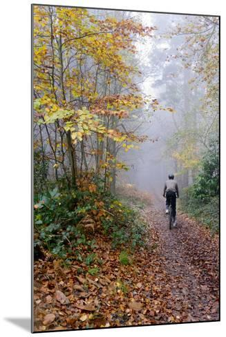 Forest cycling-Charles Bowman-Mounted Photographic Print