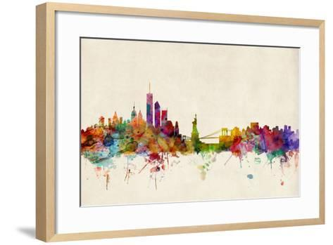 New York Skyline-Michael Tompsett-Framed Art Print