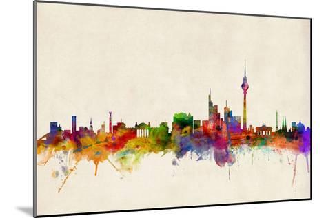 Berlin Germany Skyline-Michael Tompsett-Mounted Art Print