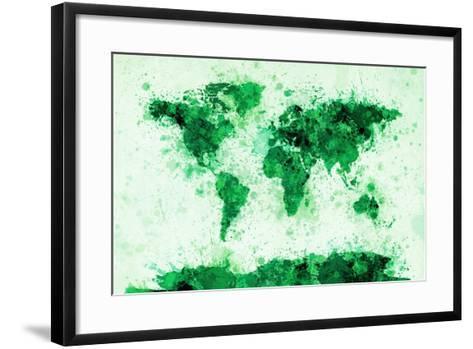 World Map Paint Splashes-Michael Tompsett-Framed Art Print