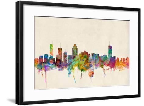 Montreal Canada Skyline-Michael Tompsett-Framed Art Print