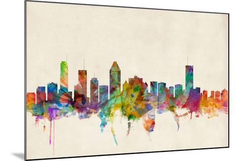 Montreal Canada Skyline-Michael Tompsett-Mounted Art Print