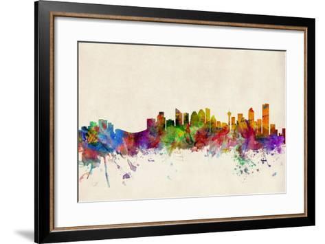 Calgary Canada Skyline-Michael Tompsett-Framed Art Print