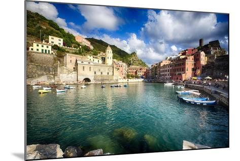 Vernazza Harbor View, Cinque Terre, Italy-George Oze-Mounted Photographic Print